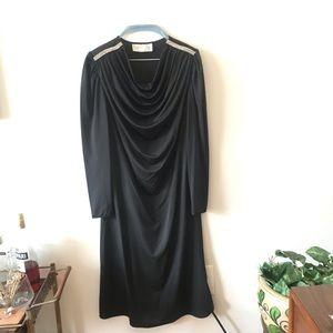 vintage Oscar de la Renta Rhinestone Sheer Dress